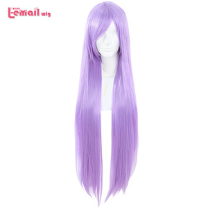 L-email wig New Saori Kido Athena Cosplay Wigs 100cm Purple Long Straight Heat Resistant Synthetic Hair Perucas Cosplay Wig