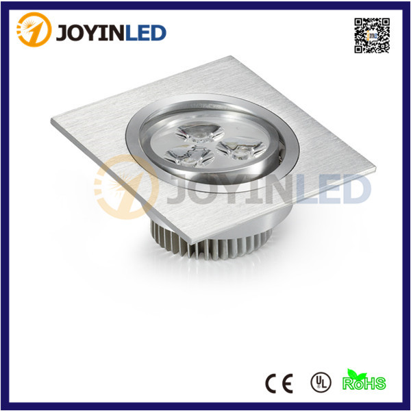 10pcs/lot free shipping 6W Square Recessed LED Ceiling Light
