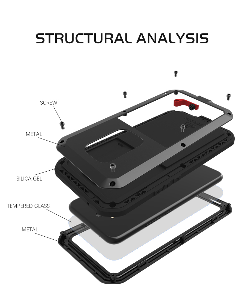 the best attitude 78dc4 6f785 US $25.82 17% OFF|Gorilla glass film gift) LOVE MEI Metal Waterproof Case  For Huawei Mate 20 Lite Shockproof Cover For mate 20 Lite cover capa-in ...