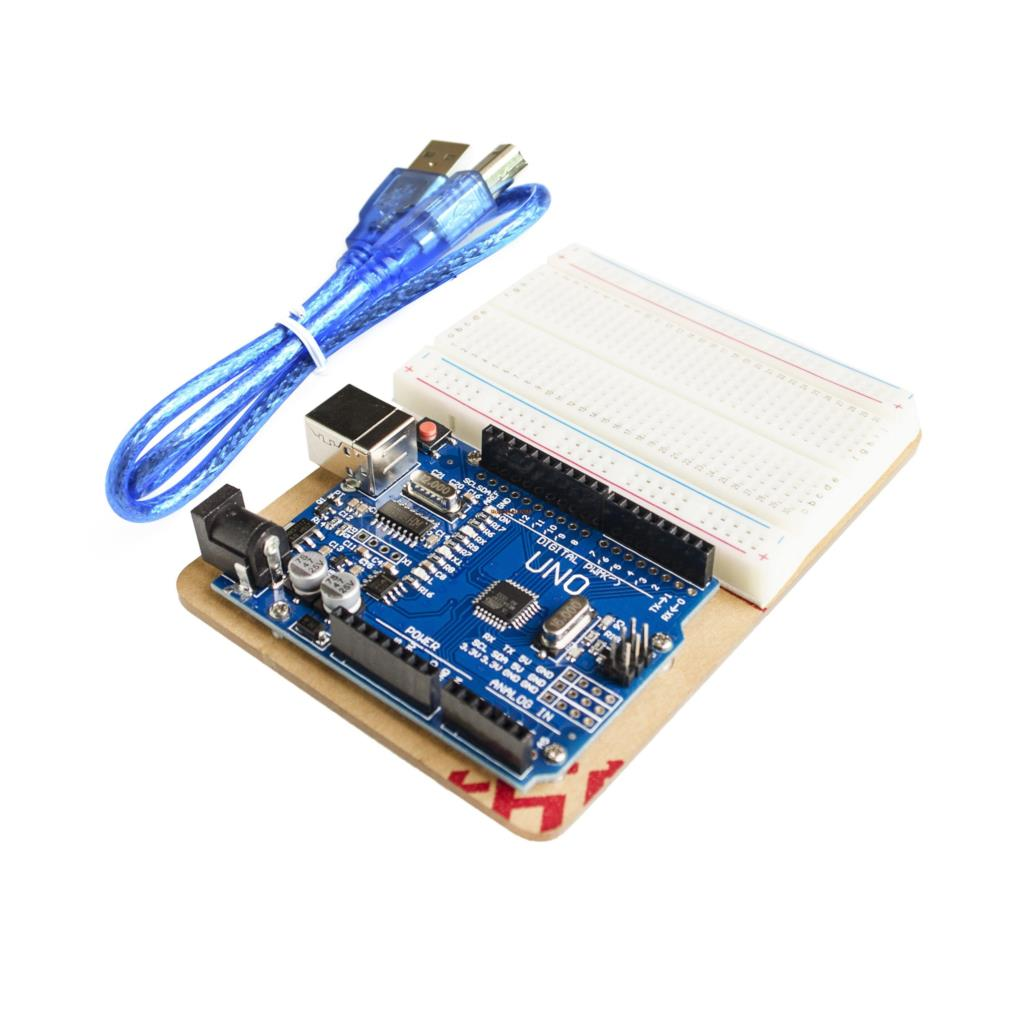 Universal Experimental Platform With Uno R3 And 400 Tie Point Breadboard And Transparent Clear Acrylic Board For Profit Small Integrated Circuits Electronic Components & Supplies