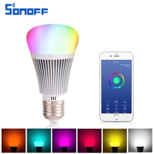 Led Bulb Dimmer Wifi Smart Light Sonoff B1Bulbs Remote Control Wifi Light Switch Led Color Changing Light Bulb Works With Alexa