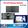 Indoor full color video wall P6 indoor SMD 3in1 LED module 1/16scan 384*192mm p6 led screen signboard