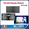 Interior full color P6 SMD 3in1 interior parede de vídeo LED módulo 1/16 de digitalização 384*192mm p6 levou tabuleta da tela