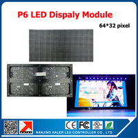 TEEHO Indoor full color video wall P6 indoor SMD 3in1 LED module 1/16scan 384*192mm p6 led screen signboard