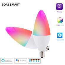 BOAZ-EC smart E14 Candle Light WiFi RGBCW Led Bulb Voice Control by Alexa Echo Google Home 2.4G Tuya APP