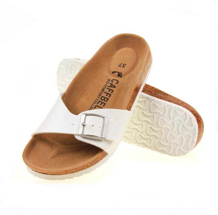 2017 Summer Women Sandals Cork Slippers Casual unisex Outdoor Shoes Flats Buckle Fashion Beach Shoes Slides Plus Size 35-43 yierfa fashion cork slipper sandals 2017 new summer women patchwork beach slides double buckle flip flops shoe white purple red