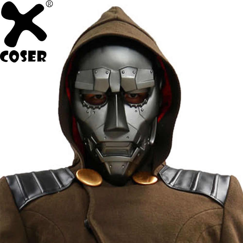 XCOSER Dr Doom Mask Movie Fantastic Four Cosplay Costume ...