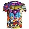 Classic Anime Dragon Ball Z Super Saiyan t shirts Angry Goku and Vegeta VS Frieza 3D t shirt Men Women Punk Hip Hip Tees Tops