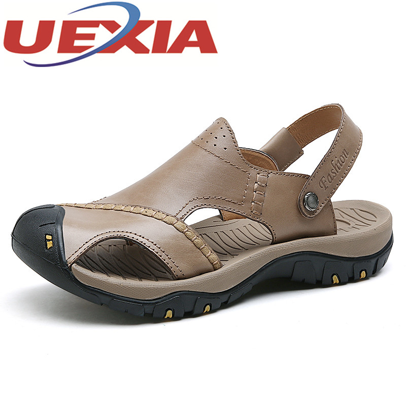 Hot Sale New Fashion Summer Leisure Beach SHoe Men Shoes High Quality Pu Leather Sandals Outdoor Mens Casual Sandals Size 38-44