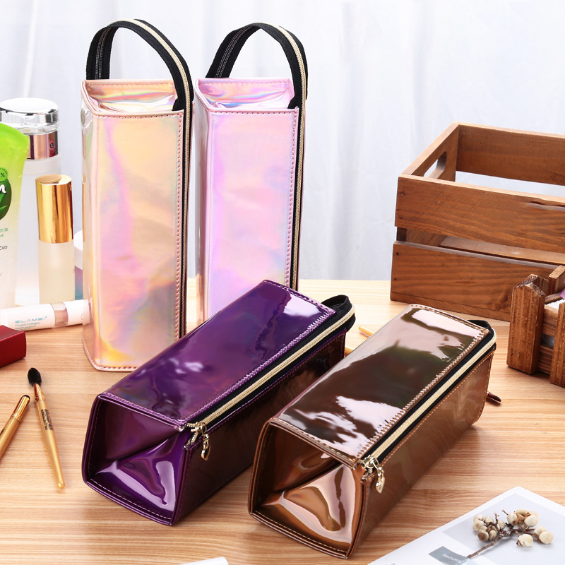 10PCS / LOT Fashion Women Cosmetic Bag Girl Makeup Bags Portable Tote Bag Men Zipper Travel Large Capacity Cosmetic Bag