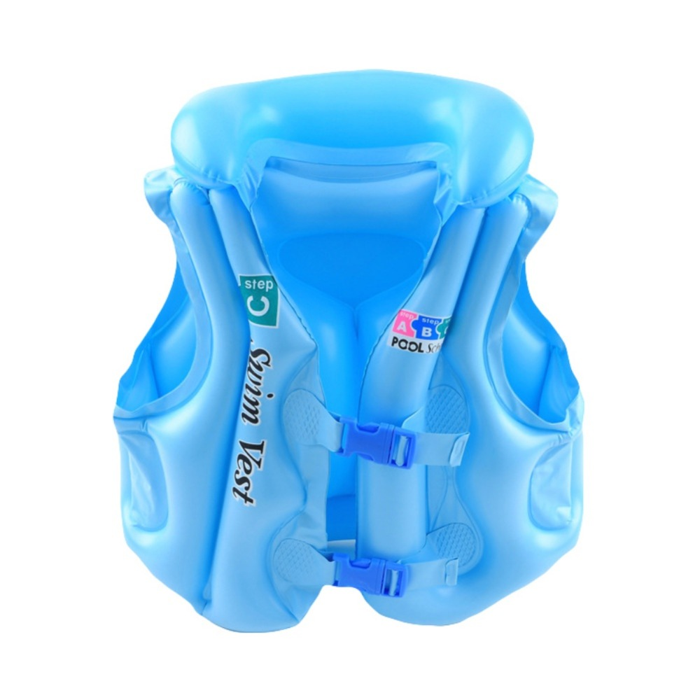 Children Float Swimming Aid Safety Float Inflatable Swim Vest Learn To Swim Life Jacket Buoyancy Aid Vest For Kids