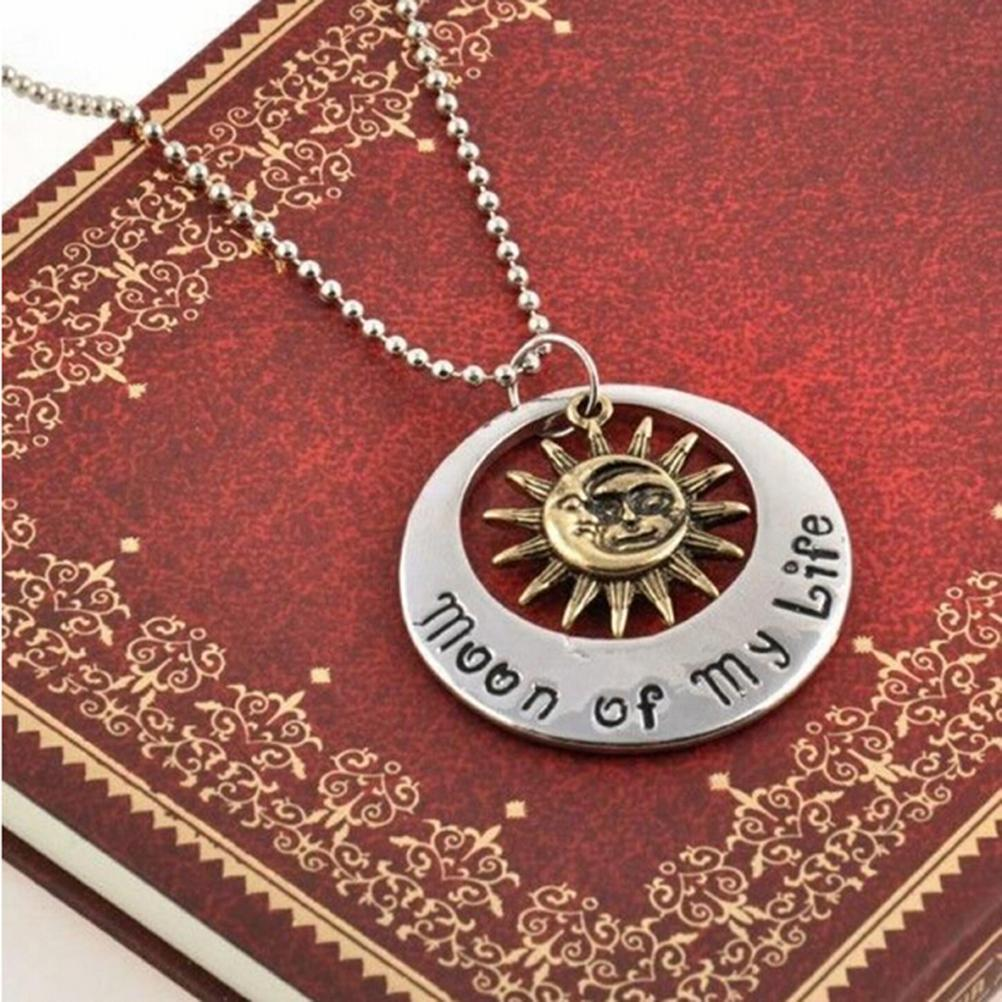 1Pcs Fashion Style Necklace Game of Thrones Moon of My Life My Sun and Stars Pendant Necklace Women Men Girl Boy Gift Hot