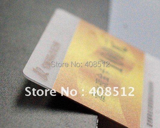 Кредитная карта толщиной 0,76 мм прозрачный ПВХ бизнес-печати карт vip-карт