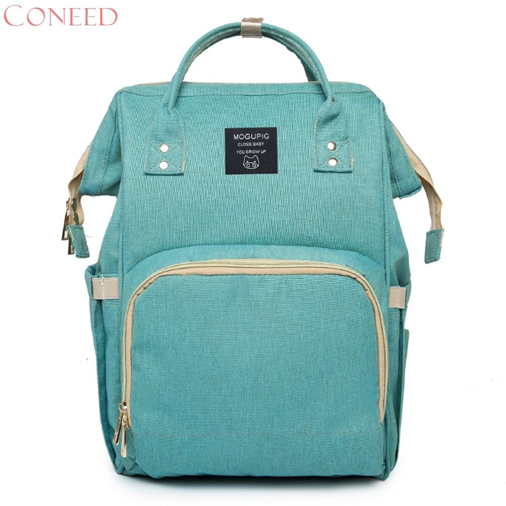 CONEED Mummy Bag Nappy Bag Large Capacity Baby Bag Travel Backpack Desiger Nursing Bag f11m30
