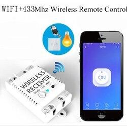 WIFI + 433 Mhz bezprzewodowy odbiornik inteligentny pilot zdalnego sterowania