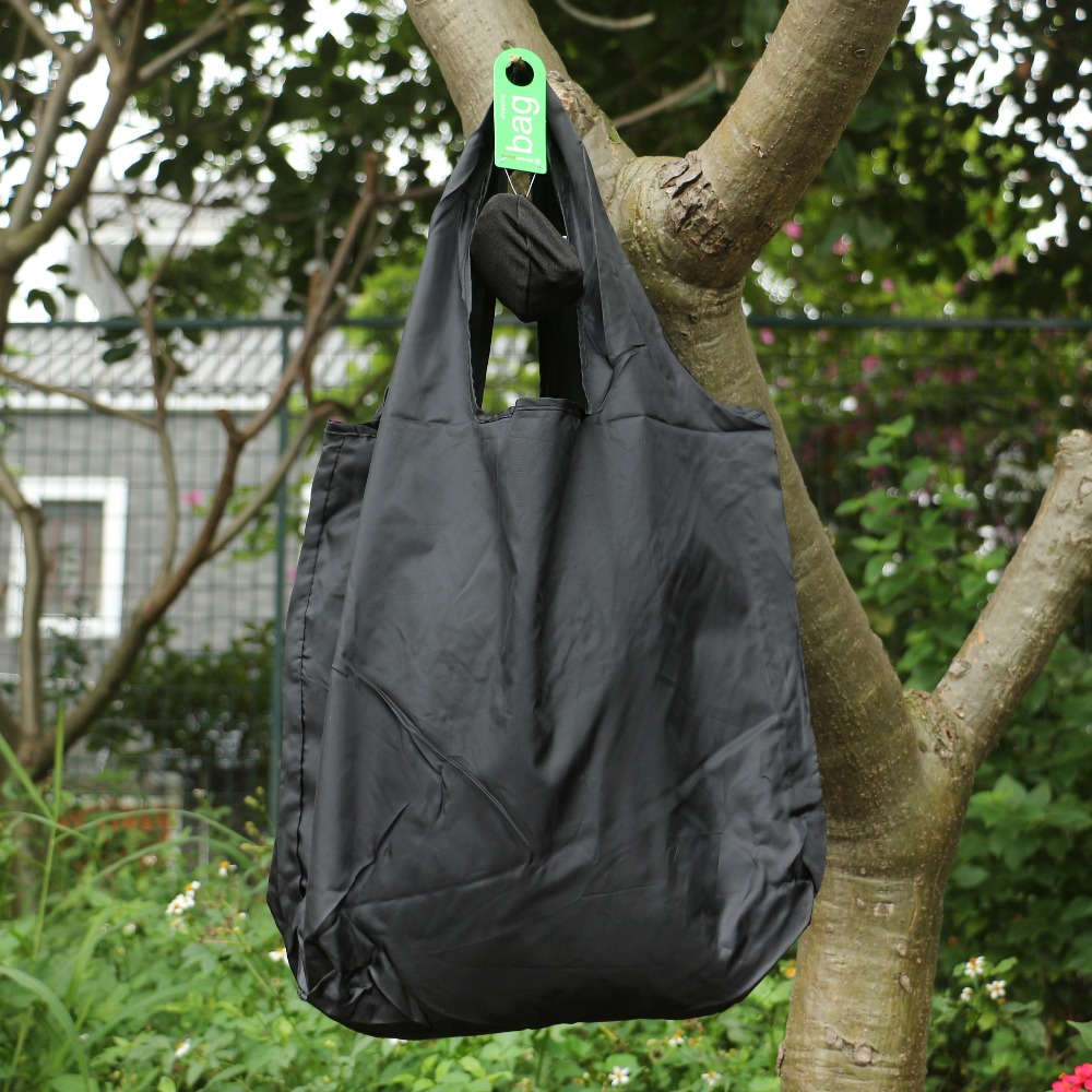 Black Round Ball Elastic Cotton Shopping Bag Foldable Tote Reusable Portable Shoulder Folding Pouch Handbags Printing