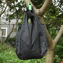 Czarna okrągła kula elastyczna bawełniana torba na zakupy składana torba wielokrotnego użytku przenośna torba na ramię składana torebka drukowanie torebek tanie tanio OLOEY NYLON TL-1 Nie zamek 15cm WOMEN Floral Moda Torby na zakupy Shopping Bag tote Large Capacity Foldable Shopping bag