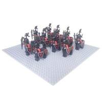 10 pçs centauro dragão knigts centauro stormer castelo cavaleiro tijolo acessório pacote com arma cavalryman bloco de construção