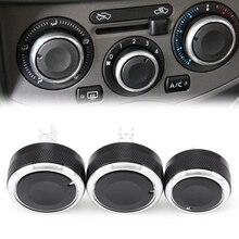 Botão do interruptor de calor para carro, 3 pçs/set, estilização de carro, acessórios para nissan tiida/nv200/livina/geniss