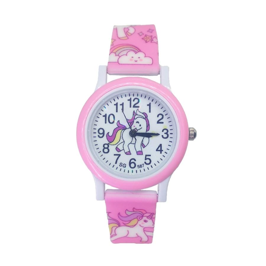 2019 Hot Pony Watch Children Fashion Cute Unicorn Cartoon Girl Boy Child Quartz Clock Student Sport Kids Watches Baby Watch Gift