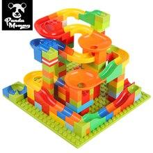 330PCS Building Bricks, Mini Marble Race Run Blocks Constructor Toys for Children