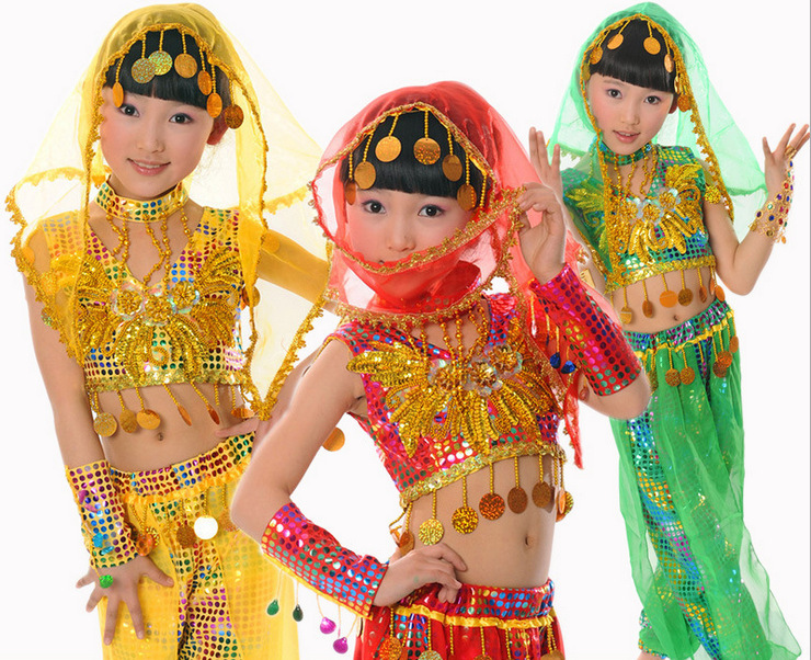 Party Cosplay Indian Belly Dance Kids Halloween Performance Costumes Clothing Set Children Fancy Dress Carnival Costume CC0040-in Anime Costumes from ...  sc 1 st  AliExpress.com & Party Cosplay Indian Belly Dance Kids Halloween Performance Costumes ...