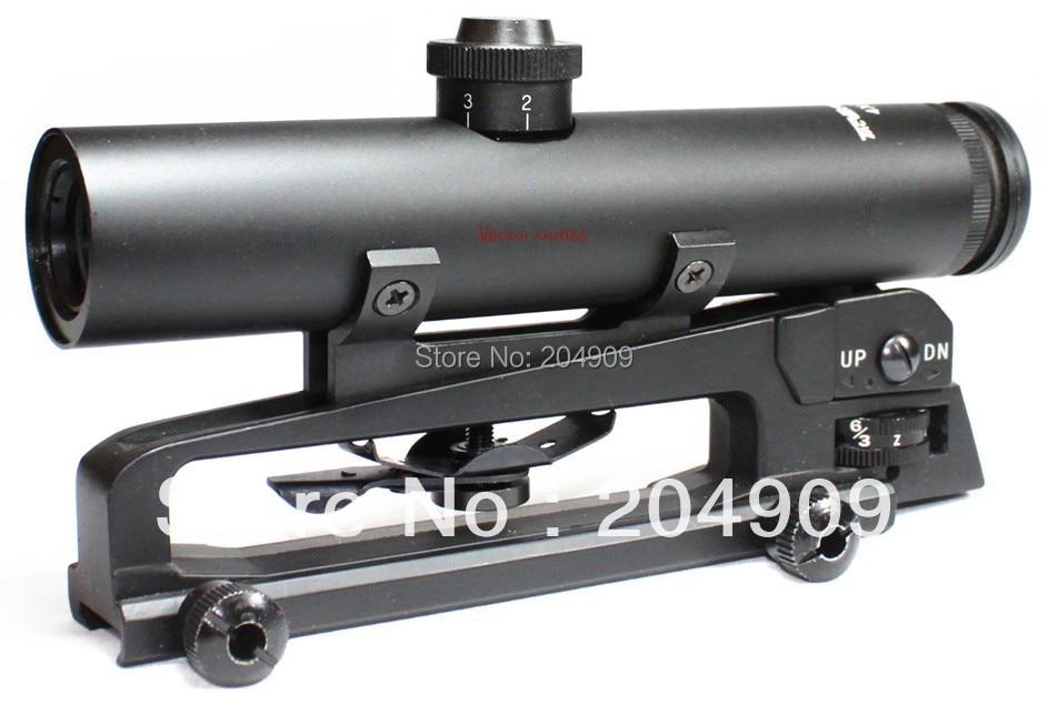 Vector Optics Tactical 4x22 Carry Handle Compact Rifle Scope Shock Proof Electro GunSight fit  M vector optics tactical g3 h