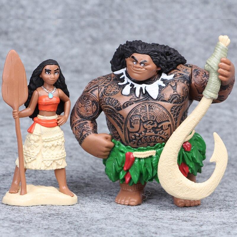 Թեժ է: 6-12 սմ կինոնկար Moana Princess Maui- ի - Խաղային արձանիկներ - Լուսանկար 3