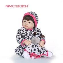NPKCOLLECTION эксклюзивная распродажа 55 см Bebe Reborn полное тело силикон Boneca Reborn для маленьких девочек куклы Brinquedos куклы дом plamates