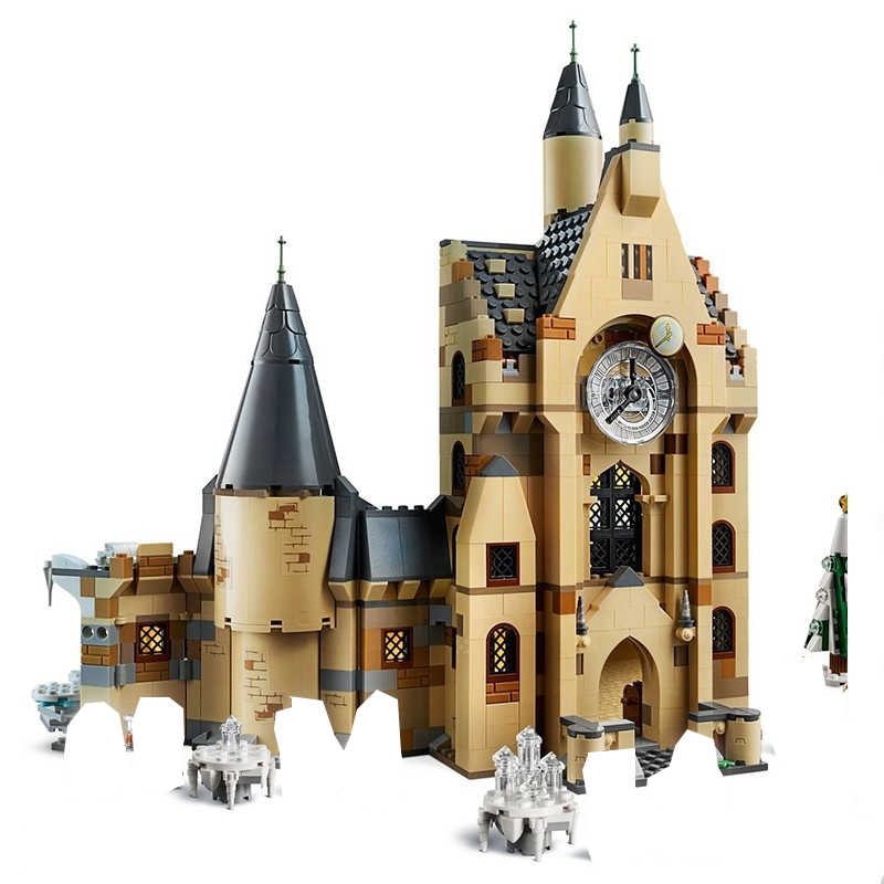 New Harri Potter Clock Tower Expecto Patronum Compatible With Model Building Block Bricks Toys No Box