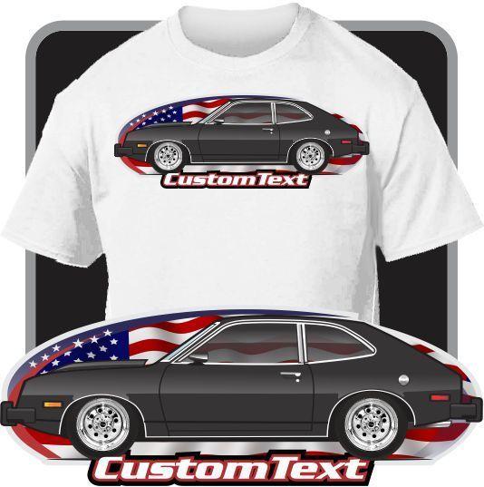Print Men T Shirt Summer Custom Art Tee 79 1979 1980 Pinto Mercury Bobcat V6 Not Affiliated with American Classic Car Fans Tee
