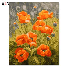 Unique Gift Coloring by Numbers Flower Oil Painting on Canvas Wall Amazing DIY Digital Decorative Pictures
