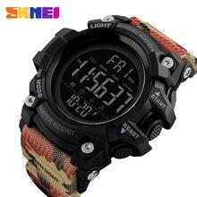SKMEI Спорт на открытом воздухе часы для мужчин 5Bar водостойкий обратный отсчет цифровые часы 2 времени будильник модные наручные часы Relogio Masculino 1384
