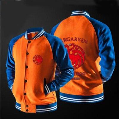 2018 new free shipping baseball jacket Targaryen Graphic  jacket no hat,The highest quality, USA size