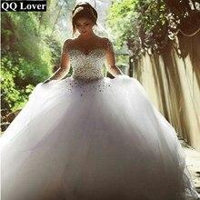 QQ מאהב אשליה פניני כדור שמלת חתונת שמלת 2020 שמלות כלה
