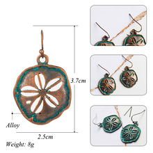 Antique Copper Bronze Cherry Flower Hollow Dangle Hanging Drop Earrings for Women 2018 New Fashion Women Ear Jewelry Accessories