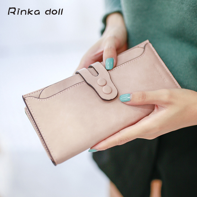Rinka doll Women Card Wallets Big Capcity High Quality PU Hasp Solid