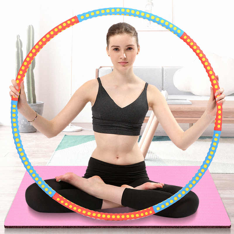 Fitness Abdominal Sport Hoops Exercise Rings Plastic Yoga Removable Massage Removable Waist Slimming Loops Workout Equipments
