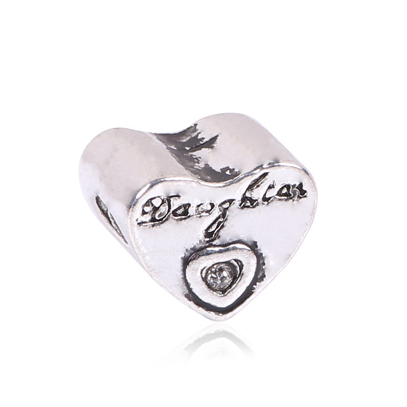 Ranqin Love Heart Bead DIY 2018 1pc European Big Hole Beads Fits Pandora Charm Bracelets Necklaces Pend