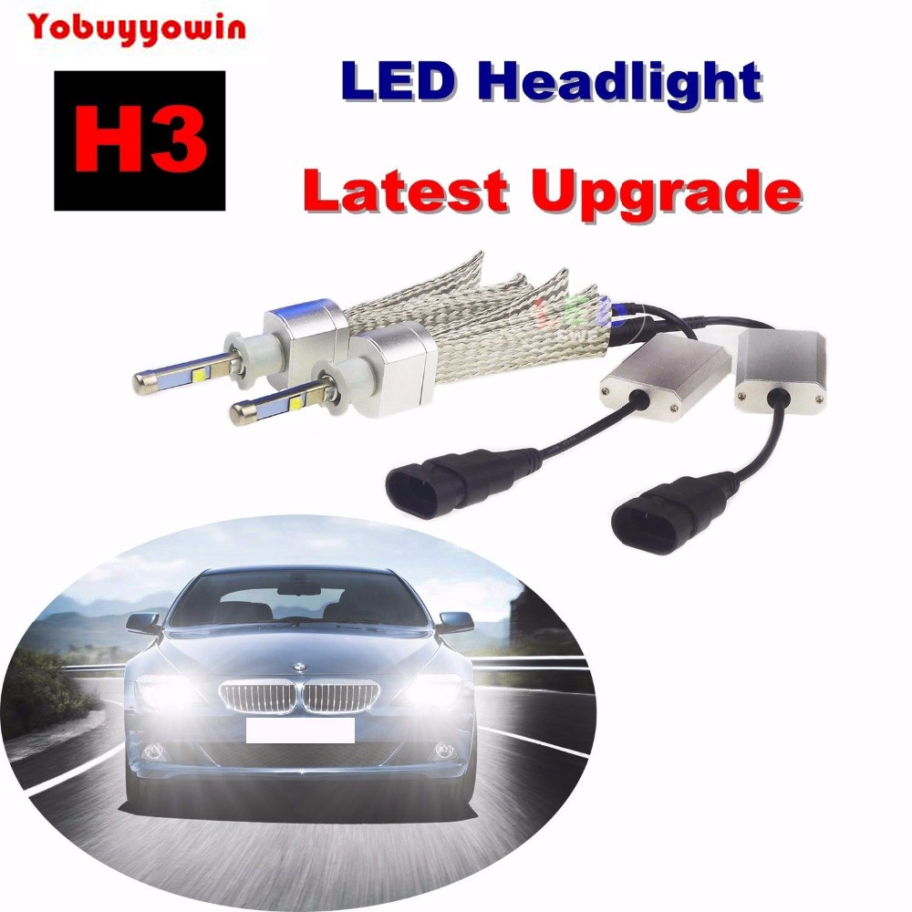 2PCS H3 80WCREE LED Headlight Kit 6000K Super Bright White High/Low Beam Bulbs LED Headlamp Conversion Lamp Light Kit H1 H4 H7 2016 h3 car led light auto modificated headlamp led headlight bulbs all in one conversion kit 80w 7200lm 6000k white