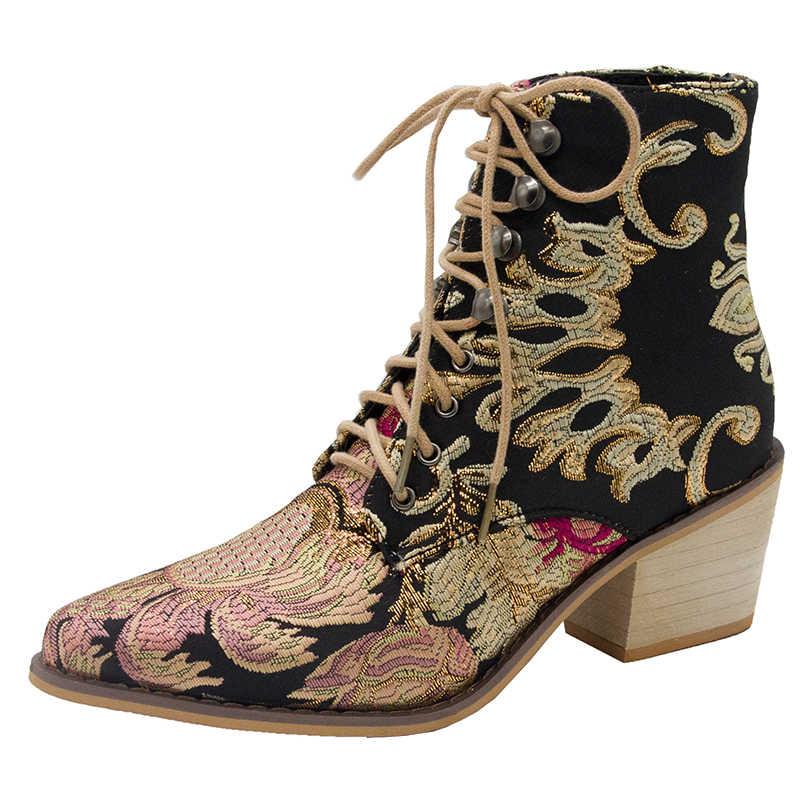 Kadın siyah çizmeler Faux Süet Ince Nakış Yüksek Topuk Noktası Ayak Platformu seksi Motosiklet Ayakkabı Bayanlar Pompaları Zapatos Mujer 0085W