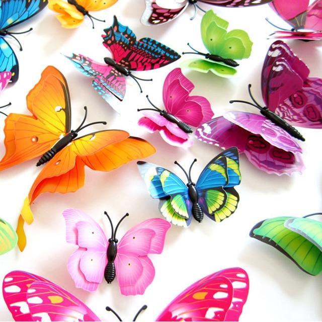 12pcs Mix Size 3D Butterfly