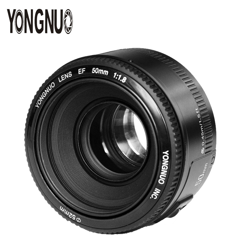 YONGNUO YN50mm F1.8 EF 50mm Lens AF/MF Auto Focus Standard Prime Lens for Canon EOS 5D2 5D3 6D 7D 60D 70D 650D 1200D DSLR Camera canon eos 6d 20 2mp full frame dslr camera body ef 24 105mm f4 l is lens kit