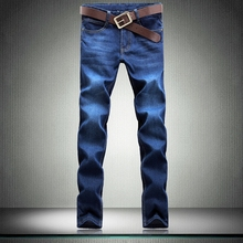 2017 New , Men's Casual Large Size Blue Mens Jeans, Good Quality  Mens Straight Jeans , Men's Jeans Trousers-6699   38 40 42