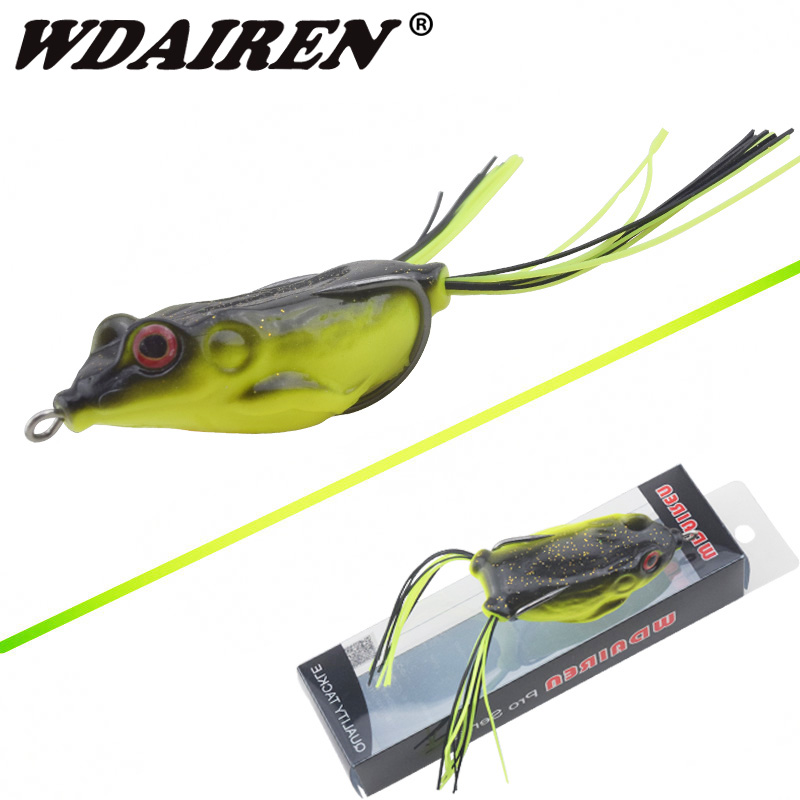 WDAIREN Kopper Live Target Frog Lure 60mm/12g Snakehead Lure Topwater Simulation Frog High Quality Fishing Lure Soft Bass Bait frog lure m