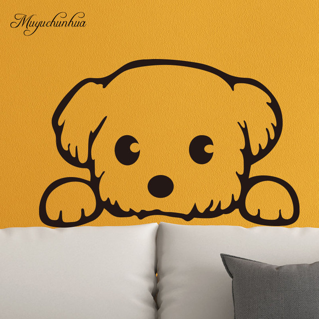 Muyuchunhua Cute Dog Wall Stickers For Kids Rooms Home Decoration