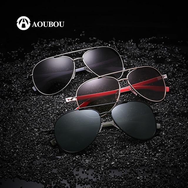 73708da64 AOUBOU Nova Marca de Óculos de Sol Masculino Polarizado, Óculos de Sol  Masculino Militar,