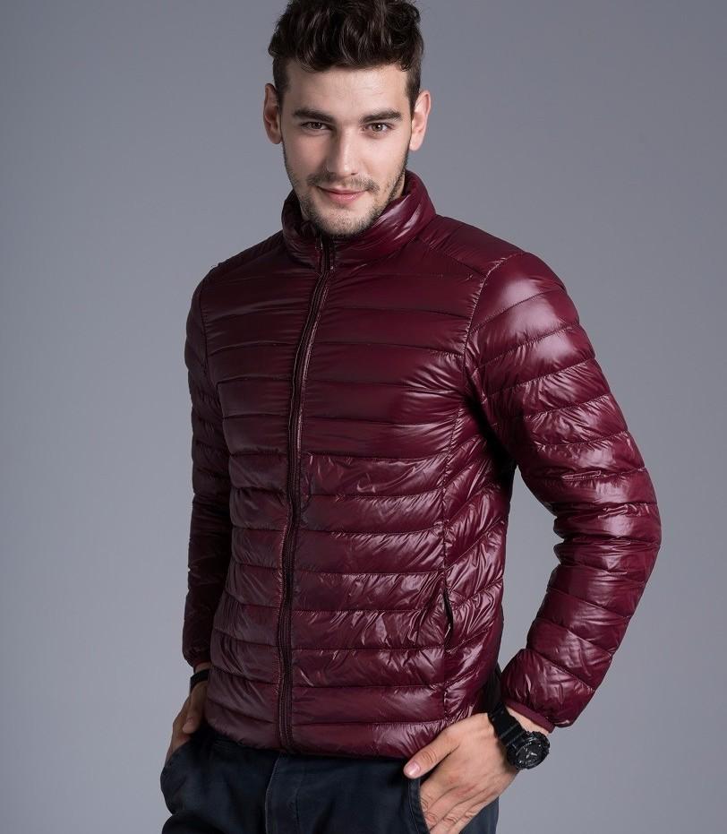 Men casual warm Jackets solid thin breathable Winter Jacket Mens outwear Coat Lightweight parka Plus size XXXL hombre jaqueta 9