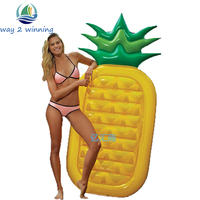 180 90 20CM Inflatable Pineapple Pool Float Summer Holiday Island Swimming Board Water Toys Raft Bed