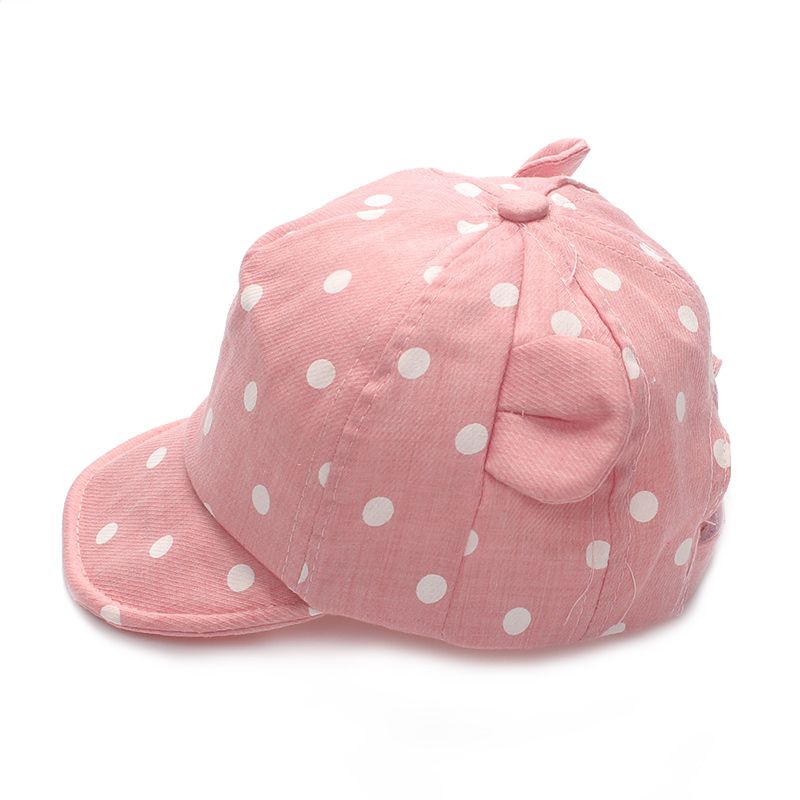 Dot Baby Caps New Girl Boys Cap Summer Hats For Boy Infant Sun Hat With Ear 2017 Sunscreen Baby Girl Hat Spring Baby Accessories (4)